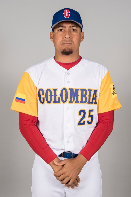 FORT MYERS, FL - MARCH 7: Ernesto Frieri #25 of Team Colombia poses for a headshot for Pool C of the 2017 World Baseball Classic on Tuesday, March 7, 2017 at CenturyLink Sports Complex in Fort Myers, Florida. (Photo by Billie Weiss/WBCI/MLB Photos via Getty Images) *** Local Caption *** Ernesto Frieri