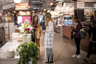 April 18, 2017, Boston, MA: A photo shoot with Britt Ross and friends on Boston Public Market in Boston, Massachusetts Tuesday, April 18, 2017. (Photo by Billie Weiss)
