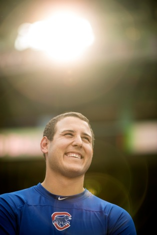 BOSTON, MA - APRIL 28: Anthony Rizzo #44 of the Chicago Cubs looks on before a game against the Boston Red Sox on April 28, 2017 at Fenway Park in Boston, Massachusetts. (Photo by Billie Weiss/Boston Red Sox/Getty Images) *** Local Caption ***Anthony Rizzo