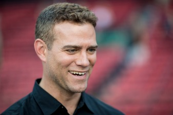 BOSTON, MA - APRIL 28: General Manager Theo Epstein of the Chicago Cubs reacts before a game against the Boston Red Sox on April 27, 2017 at Fenway Park in Boston, Massachusetts. (Photo by Billie Weiss/Boston Red Sox/Getty Images) *** Local Caption *** Theo Epstein