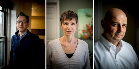 """Subjects pose for portraits in their offices in Massachusetts Wednesday, March 29, 2017."""