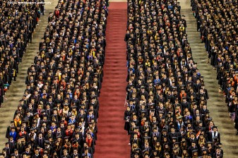 05/05/17 - BOSTON, MA. - Northeastern University celebrated its 115th Commencement on May 5, 2017. President Joseph E. Aoun led the undergraduate ceremony, which was held at TD Garden in Boston. CNN anchor and chief international correspondent Christiane Amanpour delivered the Commencement address. Northeastern conferred honorary degrees upon a distinguished group of influential figures: LucianGrainge, chairman and CEO of Universal Media Group, Diana Natalicio, president of the University of Texas at El Paso, and Dr. Myechia Minter-Jordan, president and CEO of The Dimock Center. Photo by Billie Weiss for Northeastern University