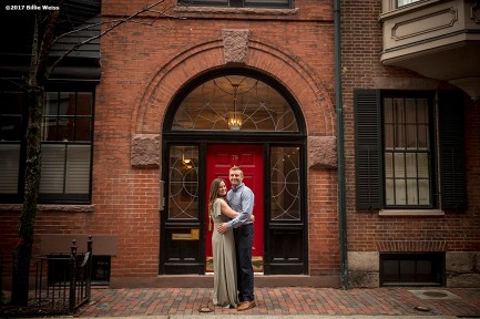 May 6, 2017, Boston, MA: An engagement photo session with Connor & Taylor in Beacon Hill in Boston, Massachusetts Saturday, May 6, 2017. (Photo by Billie Weiss)