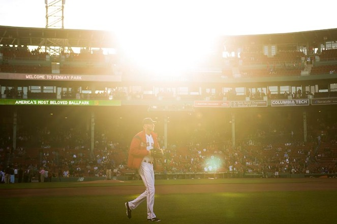 BOSTON, MA - MAY 24: Chris Sale #41 of the Boston Red Sox walks toward the bullpen before a game against the Texas Rangers on May 24, 2017 at Fenway Park in Boston, Massachusetts. (Photo by Billie Weiss/Boston Red Sox/Getty Images) *** Local Caption *** Chris Sale