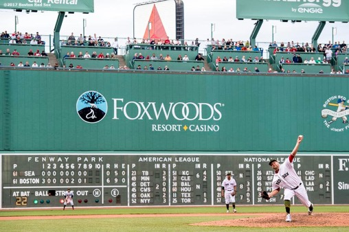 BOSTON, MA - MAY 27: Brian Johnson #61 of the Boston Red Sox delivers during the ninth inning of game against the Seattle Mariners on May 27, 2017 at Fenway Park in Boston, Massachusetts. (Photo by Billie Weiss/Boston Red Sox/Getty Images) *** Local Caption *** Brian Johnson