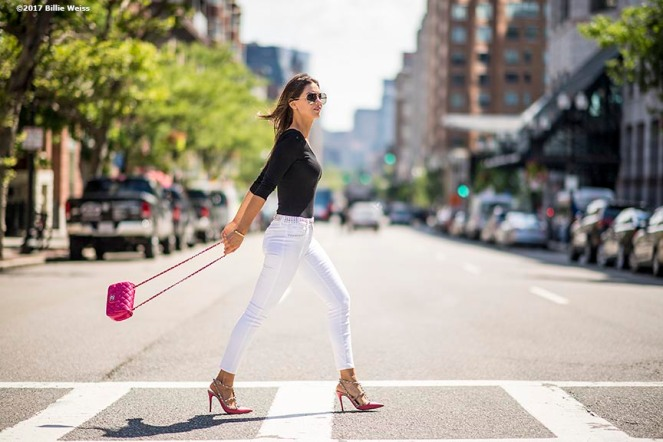 """A lifestyle fashion shoot in downtown Boston, Massachusetts Tuesday, June 20, 2017."""