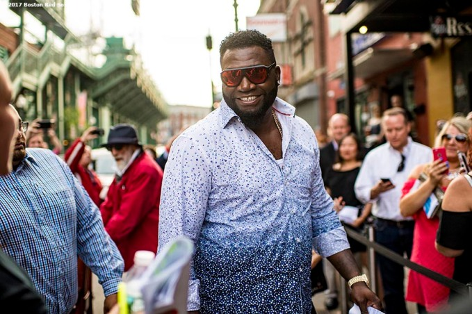 June 22, 2017, Boston, MA: Former Boston Red Sox designated hitter David Ortiz arrives at the Roast of David Ortiz, benefitting the David Ortiz Children's Fund, at House of Blues in Boston, Massachusetts Thursday, June 22, 2017. (Photo by Billie Weiss/Boston Red Sox)