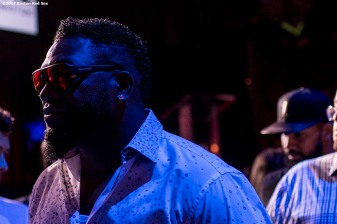 June 22, 2017, Boston, MA: Former Boston Red Sox designated hitter David Ortiz reacts during the Roast of David Ortiz, benefitting the David Ortiz Children's Fund, at House of Blues in Boston, Massachusetts Thursday, June 22, 2017. (Photo by Billie Weiss/Boston Red Sox)