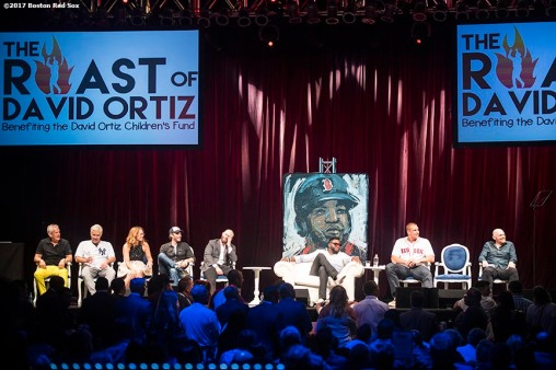 June 22, 2017, Boston, MA: Participants take part in the Roast of David Ortiz, benefitting the David Ortiz Children's Fund, at House of Blues in Boston, Massachusetts Thursday, June 22, 2017. (Photo by Billie Weiss/Boston Red Sox)
