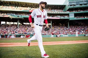 BOSTON, MA - JUNE 24: David Price #24 of the Boston Red Sox runs onto the field before a game against the Los Angeles Angels of Anaheim on June 24, 2017 at Fenway Park in Boston, Massachusetts. (Photo by Billie Weiss/Boston Red Sox/Getty Images) *** Local Caption *** David Price