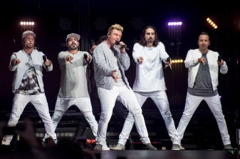 BOSTON, MA - JULY 7: The Backstreet Boys perform during a concert on July 7, 2017 at Fenway Park in Boston, Massachusetts. (Photo by Billie Weiss/Boston Red Sox/Getty Images) *** Local Caption *** Backstreet Boys