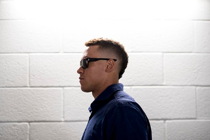 MIAMI, FL - JULY 11: Aaron Judge #99 of the New York Yankees arrives during the 88th MLB All-Star Game at Marlins Park on July 11, 2017 in Miami, Florida (Photo by Billie Weiss/Boston Red Sox/Getty Images) *** Local Caption *** Aaron Judge
