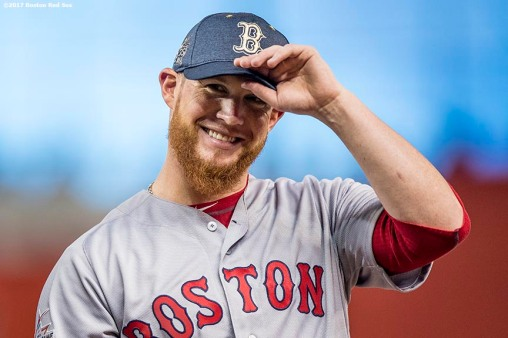 MIAMI, FL - JULY 11: Craig Kimbrel #41 of the Boston Red Sox reacts as he is introduced during the 88th MLB All-Star Game at Marlins Park on July 11, 2017 in Miami, Florida (Photo by Billie Weiss/Boston Red Sox/Getty Images) *** Local Caption *** Craig Kimbrel