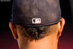 BOSTON, MA - AUGUST 3: Xander Bogaerts #2 of the Boston Red Sox looks on before a game against the Chicago White Sox on August 3, 2017 at Fenway Park in Boston, Massachusetts. (Photo by Billie Weiss/Boston Red Sox/Getty Images) *** Local Caption *** Xander Bogaerts
