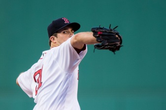 BOSTON, MA - AUGUST 5: Drew Pomeranz #31 of the Boston Red Sox delivers during the first inning of a game against the Chicago White Sox on August 5, 2017 at Fenway Park in Boston, Massachusetts. (Photo by Billie Weiss/Boston Red Sox/Getty Images) *** Local Caption *** Drew Pomeranz