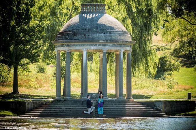 August 20, 2017, Boston, MA: The proposal and engagement of Matthew & Julia at Larz Anderson Park in Brookline, Massachusetts Sunday, August 20, 2017. (Photo by Billie Weiss)