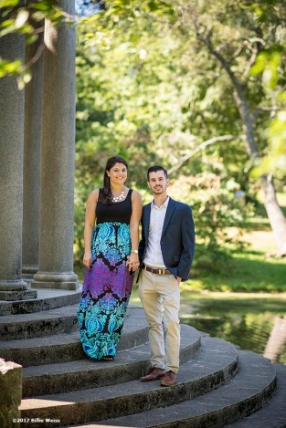 """The proposal and engagement of Matthew & Julia at Larz Anderson Park in Brookline, Massachusetts."""