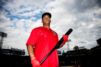 BOSTON, MA - SEPTEMBER 8: Rafael Devers #11 of the Boston Red Sox looks on before a game against the Tampa Bay Rays on September 8, 2017 at Fenway Park in Boston, Massachusetts. (Photo by Billie Weiss/Boston Red Sox/Getty Images) *** Local Caption *** Rafael Devers