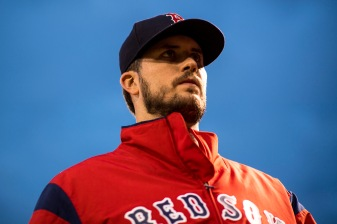 BOSTON, MA - SEPTEMBER 8: Drew Pomeranz #31 of the Boston Red Sox looks on before a game against the Tampa Bay Rays on September 8, 2017 at Fenway Park in Boston, Massachusetts. (Photo by Billie Weiss/Boston Red Sox/Getty Images) *** Local Caption *** Drew Pomeranz