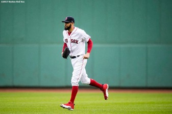 BOSTON, MA - SEPTEMBER 30: David Price #24 of the Boston Red Sox enters the game during the seventh inning of a game against the Houston Astros on September 30, 2017 at Fenway Park in Boston, Massachusetts. (Photo by Billie Weiss/Boston Red Sox/Getty Images) *** Local Caption *** David Price