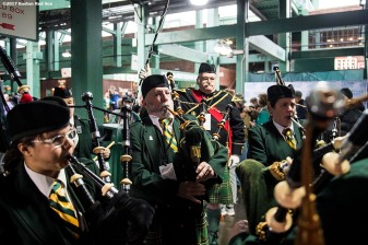 November 19, 2017, Boston, MA: Bagpipers perform at the Irish Festival during the AIG Fenway Hurling Classic and Irish Festival at Fenway Park in Boston, Massachusetts Sunday, November 19, 2017. (Photo by Billie Weiss/Boston Red Sox)