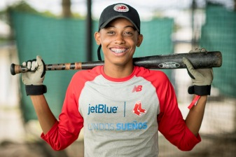 July 21, 2017, Boston, MA: A teammate poses for a portrait at the Boston Red Sox Dominican Academy during the 2017 Lindos Sueños trip in the Dominican Republic Friday, July 21, 2017. (Photo by Billie Weiss/Boston Red Sox)