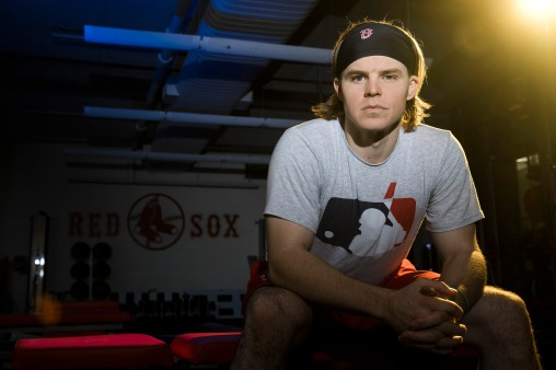 November 16, 2017, Boston, MA: Boston Red Sox infielder/outfielder Brock Holt poses for a portrait after an off-season workout in the gym at Fenway Park in Boston, Massachusetts Thursday, November 16, 2017. (Photo by Billie Weiss/Boston Red Sox)