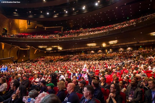 January 19, 2018, Ledyard, CT: Fans attend the NESN Town Hall during the 2018 Red Sox Winter Weekend at Foxwoods Resort & Casino in Ledyard, Connecticut Friday, January 19, 2018. (Photo by Billie Weiss/Boston Red Sox)