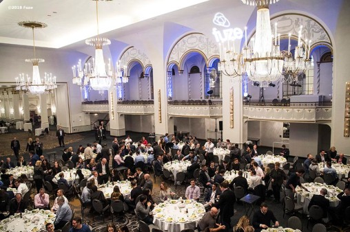 January 25, 2018, Boston, MA: The award ceremony is held during the Fuze awards dinner at the Boston Park Plaza Hotel in Boston, Massachusetts Monday, January 25, 2018. (Photo by Billie Weiss/Fuze)