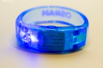 BOSTON, MA - JANUARY 29: A bracelet is shown during the Light Up Our Hospital campaign kick-off with OSRAM at Boston Children's Hospital on January 29, 2018 in Boston, Massachusetts. (Photo by Billie Weiss/Getty Images for Boston Children's Hospital)