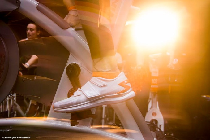 """The 2018 Cycle For Survival is held at Equinox in Boston, Massachusetts Friday, February 2, 2018."""
