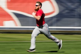 FT. MYERS, FL - FEBRUARY 18: Craig Kimbrel #46 of the Boston Red Sox runs sprints during a team workout on February 18, 2018 at jetBlue Park at Fenway South in Fort Myers, Florida . (Photo by Billie Weiss/Boston Red Sox/Getty Images) *** Local Caption *** Craig Kimbrel
