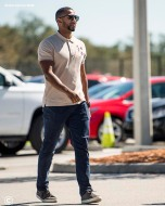 FT. MYERS, FL - FEBRUARY 18: Eduardo Nunez of the Boston Red Sox arrives after being signed during a team workout on February 18, 2018 at jetBlue Park at Fenway South in Fort Myers, Florida . (Photo by Billie Weiss/Boston Red Sox/Getty Images) *** Local Caption *** Eduardo Nunez