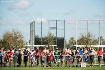 FT. MYERS, FL - FEBRUARY 19: Fans attend a Boston Red Sox team workout on February 19, 2018 at jetBlue Park at Fenway South in Fort Myers, Florida . (Photo by Billie Weiss/Boston Red Sox/Getty Images) *** Local Caption ***