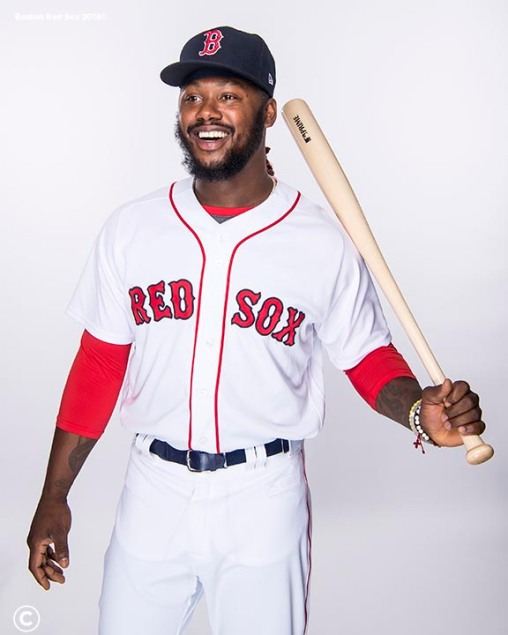 FT. MYERS, FL - FEBRUARY 20: Hanley Ramirez #13 of the Boston Red Sox poses for a portrait on team photo day on February 20, 2018 at jetBlue Park at Fenway South in Fort Myers, Florida . (Photo by Billie Weiss/Boston Red Sox/Getty Images) *** Local Caption *** Hanley Ramirez