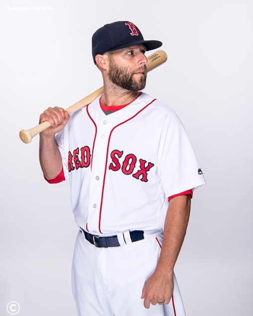 FT. MYERS, FL - FEBRUARY 20: Dustin Pedroia #15 of the Boston Red Sox poses for a portrait on team photo day on February 20, 2018 at jetBlue Park at Fenway South in Fort Myers, Florida . (Photo by Billie Weiss/Boston Red Sox/Getty Images) *** Local Caption *** Dustin Pedroia