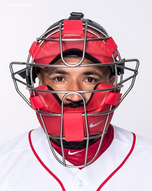 FT. MYERS, FL - FEBRUARY 20: Sandy Leon #3 of the Boston Red Sox poses for a portrait on team photo day on February 20, 2018 at jetBlue Park at Fenway South in Fort Myers, Florida . (Photo by Billie Weiss/Boston Red Sox/Getty Images) *** Local Caption *** Sandy Leon