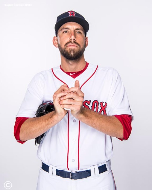 FT. MYERS, FL - FEBRUARY 20: Matt Barnes #32 of the Boston Red Sox poses for a portrait on team photo day on February 20, 2018 at jetBlue Park at Fenway South in Fort Myers, Florida . (Photo by Billie Weiss/Boston Red Sox/Getty Images) *** Local Caption *** Matt Barnes