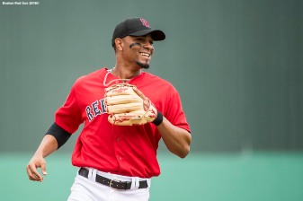 FORT MYERS, FL - FEBRUARY 23: Xander Bogaerts #2 of the Boston Red Sox reacts during a game against the Minnesota Twins at JetBlue Park at Fenway South on February 23, 2018 in Fort Myers, Florida. (Photo by Billie Weiss/Boston Red Sox/Getty Images) *** Local Caption *** Xander Bogaerts