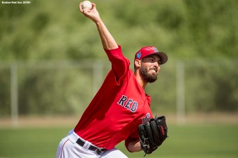FORT MYERS, FL - FEBRUARY 24: Rick Porcello #22 of the Boston Red Sox pitches in a simulated game before a game against the Tampa Bay Rays at JetBlue Park at Fenway South on February 24, 2018 in Fort Myers, Florida. (Photo by Billie Weiss/Boston Red Sox/Getty Images) *** Local Caption *** Rick Porcello