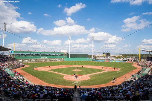 FORT MYERS, FL - FEBRUARY 28: A general view of jetBlue Park during a game between the Boston Red Sox and the Pittsburgh Pirates at JetBlue Park at Fenway South on February 28, 2018 in Fort Myers, Florida. (Photo by Billie Weiss/Boston Red Sox/Getty Images) *** Local Caption ***