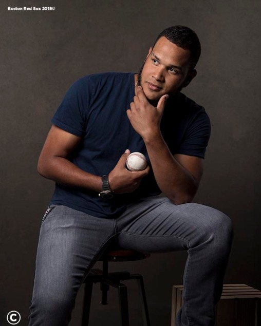 FT. MYERS, FL - MARCH 2: Eduardo Rodriguez #52 of the Boston Red Sox poses for a portrait on March 2, 2018 at Fenway South in Fort Myers, Florida . (Photo by Billie Weiss/Boston Red Sox/Getty Images) *** Local Caption *** Eduardo Rodriguez