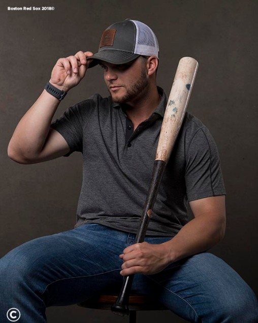 FT. MYERS, FL - MARCH 2: Andrew Benintendi #16 of the Boston Red Sox poses for a portrait on March 2, 2018 at Fenway South in Fort Myers, Florida . (Photo by Billie Weiss/Boston Red Sox/Getty Images) *** Local Caption *** Andrew Benintendi