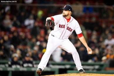 BOSTON, MA - APRIL 10: Brian Johnson #61 of the Boston Red Sox delivers during the ninth inning of a game against the New York Yankees on April 10, 2018 at Fenway Park in Boston, Massachusetts. (Photo by Billie Weiss/Boston Red Sox/Getty Images) *** Local Caption *** Brian Johnson