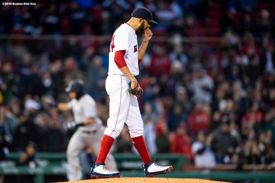 BOSTON, MA - APRIL 11: Gary Sanchez #24 of the New York Yankees rounds the bases after hitting a two run home run off David Price #24 during the first inning of a game on April 11, 2018 at Fenway Park in Boston, Massachusetts. (Photo by Billie Weiss/Boston Red Sox/Getty Images) *** Local Caption *** Gary Sanchez; David Price