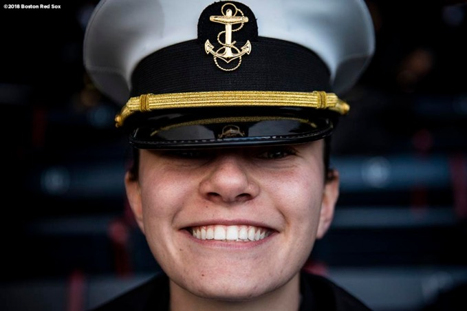 BOSTON, MA - APRIL 20: A Navy Cadets poses for a portrait during a game between Army West Point and the Naval Academy on April 20, 2018 at Fenway Park in Boston, Massachusetts. (Photo by Billie Weiss/Boston Red Sox/Getty Images) *** Local Caption ***