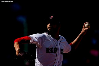 BOSTON, MA - APRIL 28: David Price #24 of the Boston Red Sox delivers during the first inning of a game against the Tampa Bay Rays on April 28, 2018 at Fenway Park in Boston, Massachusetts. (Photo by Billie Weiss/Boston Red Sox/Getty Images) *** Local Caption *** David Price