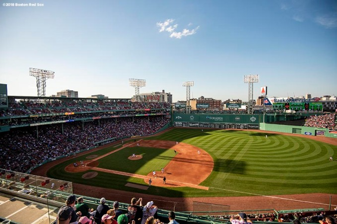 BOSTON, MA - APRIL 28: A general view during a game between the Boston Red Sox and the Tampa Bay Rays on April 28, 2018 at Fenway Park in Boston, Massachusetts. (Photo by Billie Weiss/Boston Red Sox/Getty Images) *** Local Caption ***