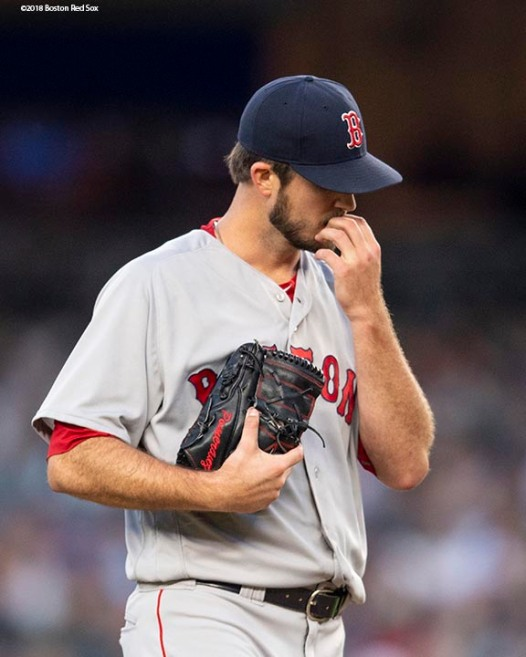 NEW YORK, NY - MAY 8: Drew Pomeranz #31 of the Boston Red Sox reacts as he develops a blister during the second inning of a game against the New York Yankees on May 8, 2018 at Yankee Stadium in the Bronx borough of New York City. (Photo by Billie Weiss/Boston Red Sox/Getty Images) *** Local Caption *** Drew Pomeranz