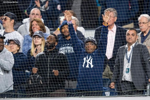 NEW YORK, NY - MAY 8: Spike Lee reacts during a game between the Boston Red Sox and the New York Yankees on May 8, 2018 at Yankee Stadium in the Bronx borough of New York City. (Photo by Billie Weiss/Boston Red Sox/Getty Images) *** Local Caption *** Spike Lee